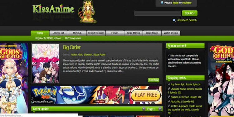KissAnime Best Site to Watch Anime