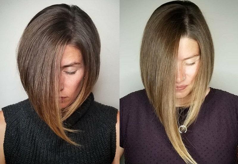 6. Asymmetrical Cut: