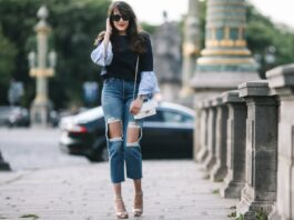 diy ripped knee jeans
