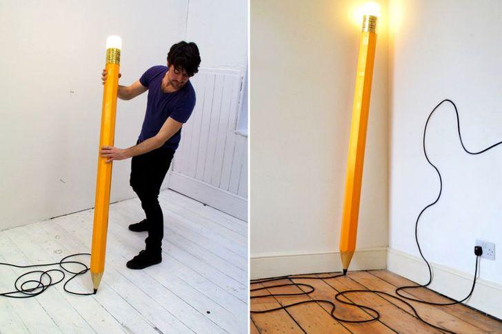 A pencil lamp