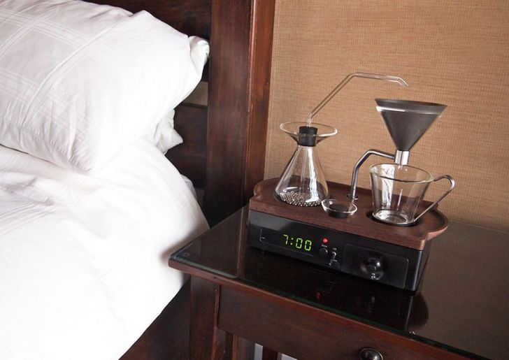 Your barista and alarm clock in one device
