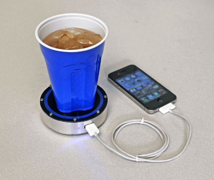 A heat/cold charging device